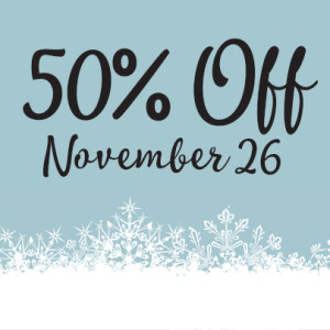 SQUARE 50% off day